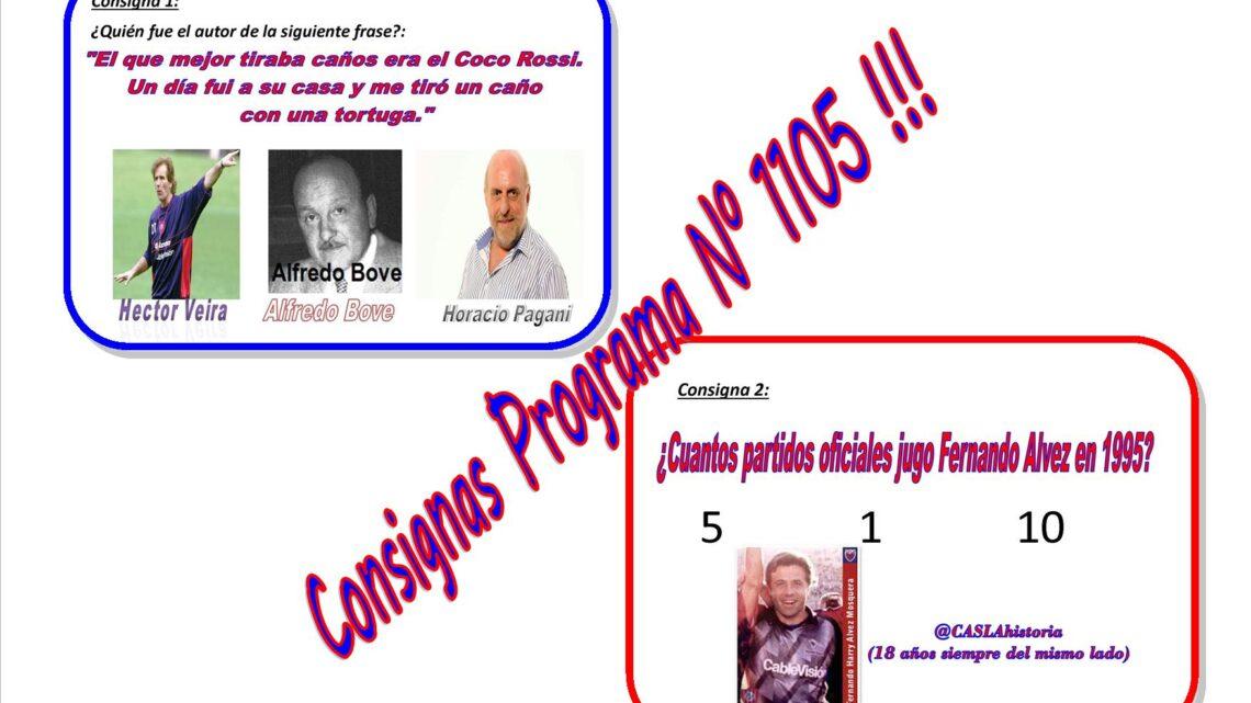 Consignas Programa N° 1105 !!!!