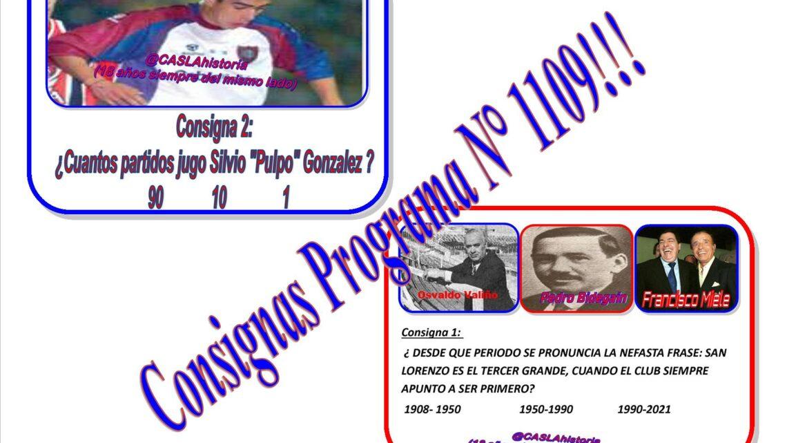 Consignas Programa N° 1109 !!!!