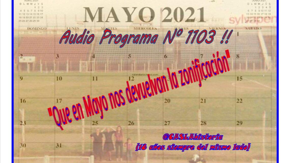 Audio del Programa 1103 de Domingo!! «Que en Mayo nos devuelvan la zonificacion»