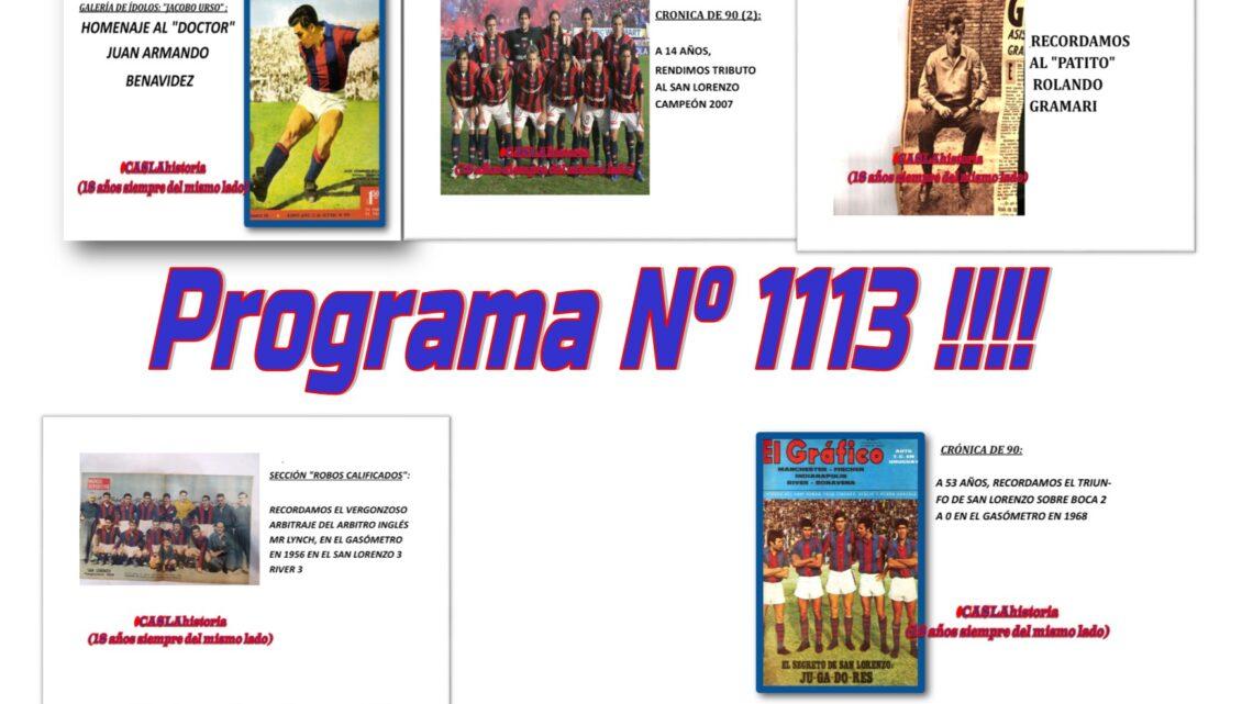 Programa N° 1113 de Domingo!! . «Matadores, Benavidez, Campeón 2007, el arbitro Pirata y Patito»