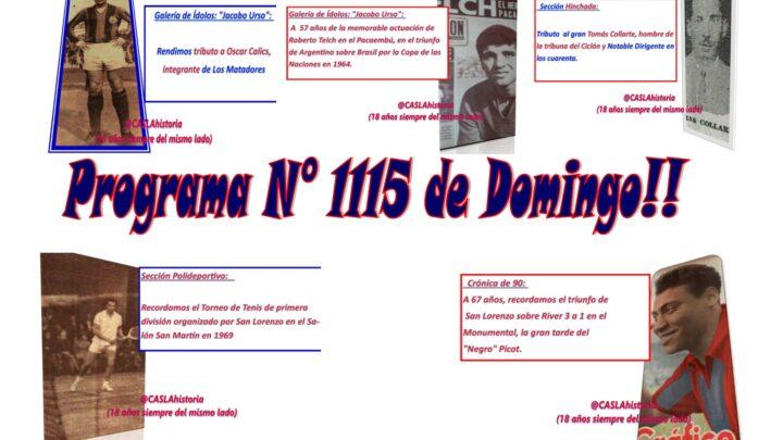 Programa N° 1115. » Telch, Picot, Collarte, Calics y el Tenis Azulgrana»