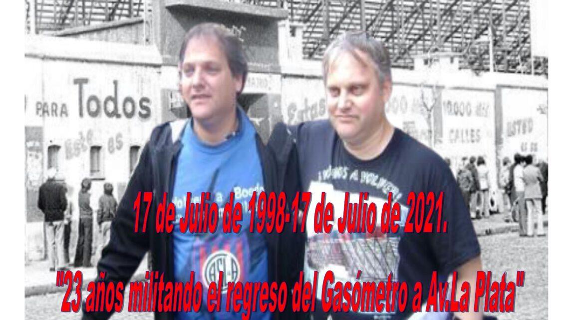 «17 de Julio de 1998-17de Julio de 2021» 23 años de militancia por la Vuelta a Casa!!