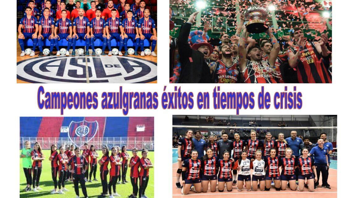 Campeones azulgranas éxitos en tiempos de crisis!!