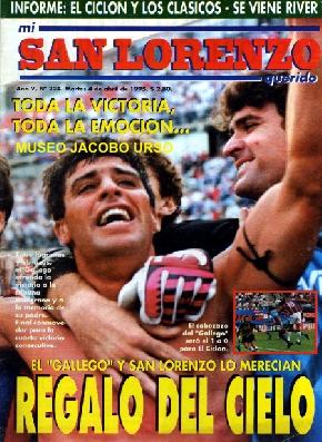 Un grito de gol que llego al cielo!! San Lorenzo 1- Belgrano 0 en 1995.