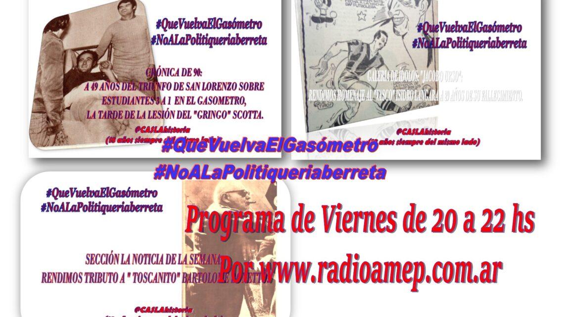 Este  Viernes de 20 a 22 hs por www.radioamep.com.ar, te esperamos!!!